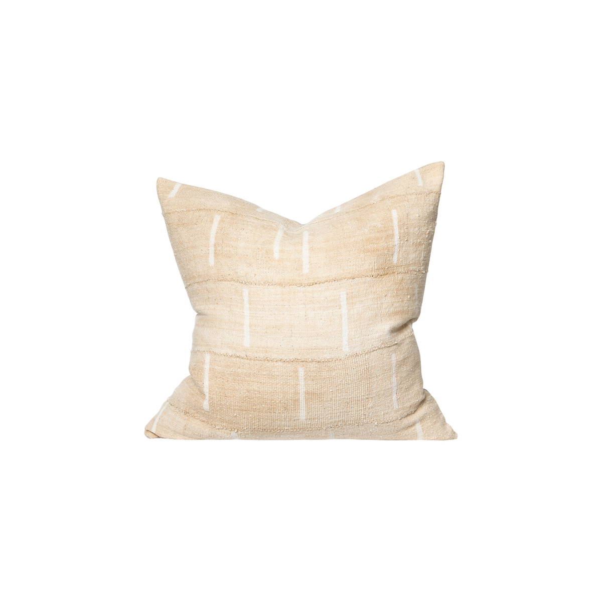 Hunt Wheat and Ivory Mud Cloth Pillow - Front