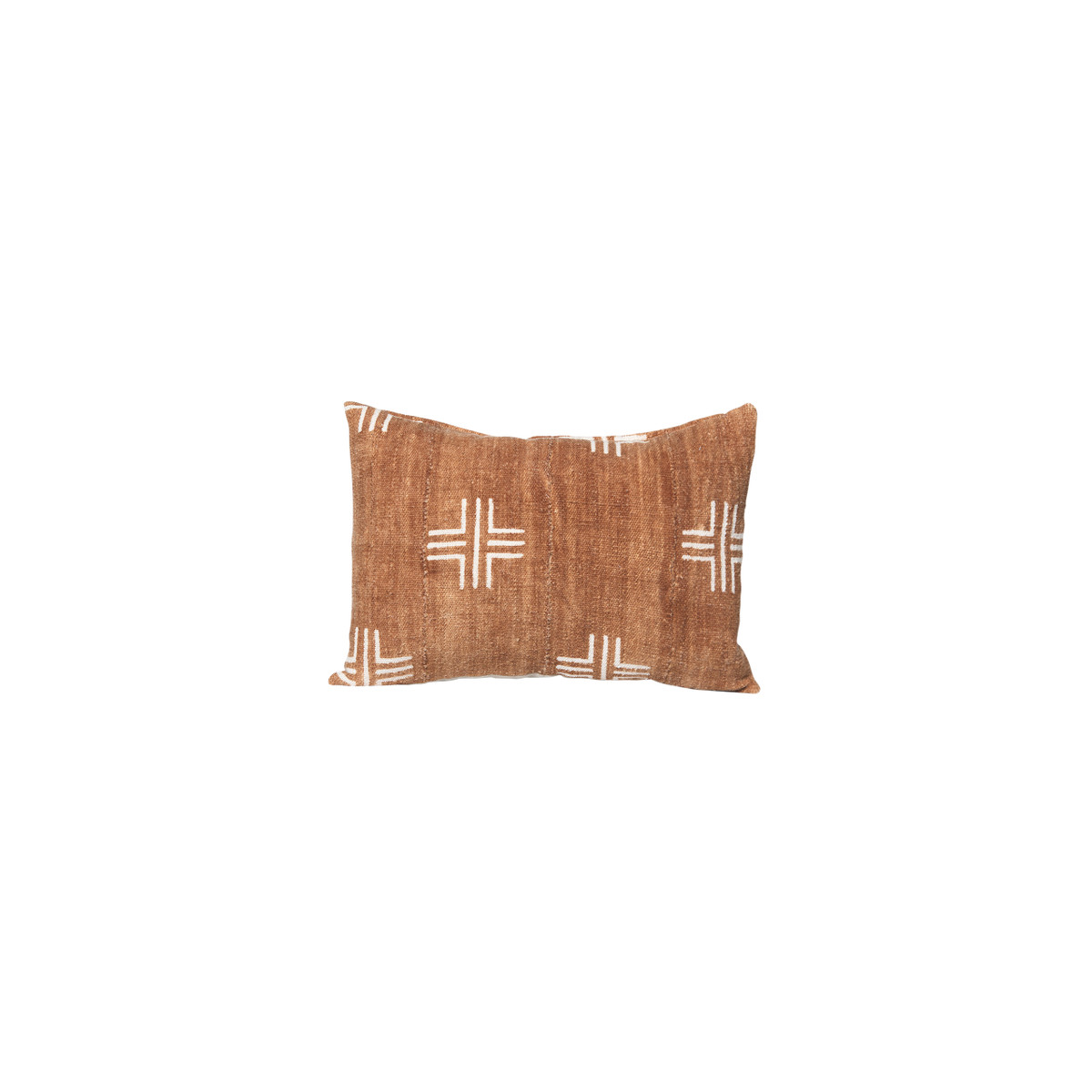 Taos Lumbar - Mud Cloth Rust Cross Pillow 14 x 20 - Front