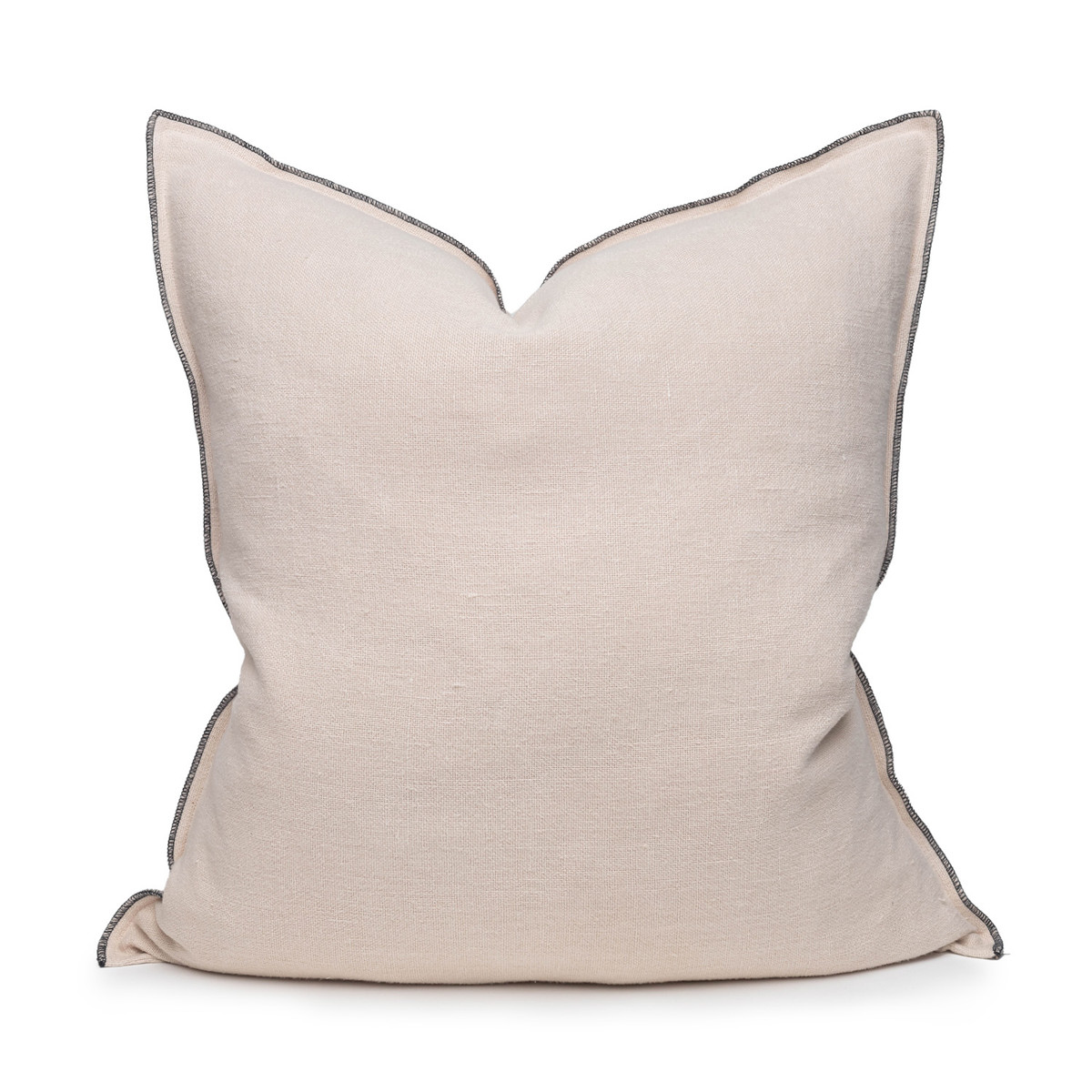 Santal Linen Pillow 22 - Creme Brulee - Front View