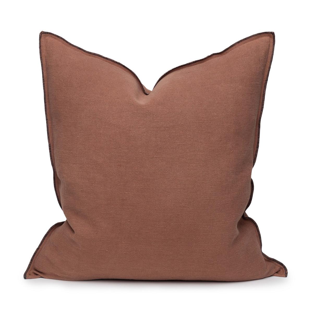 Santal Linen Pillow 22 - Bark - Front View