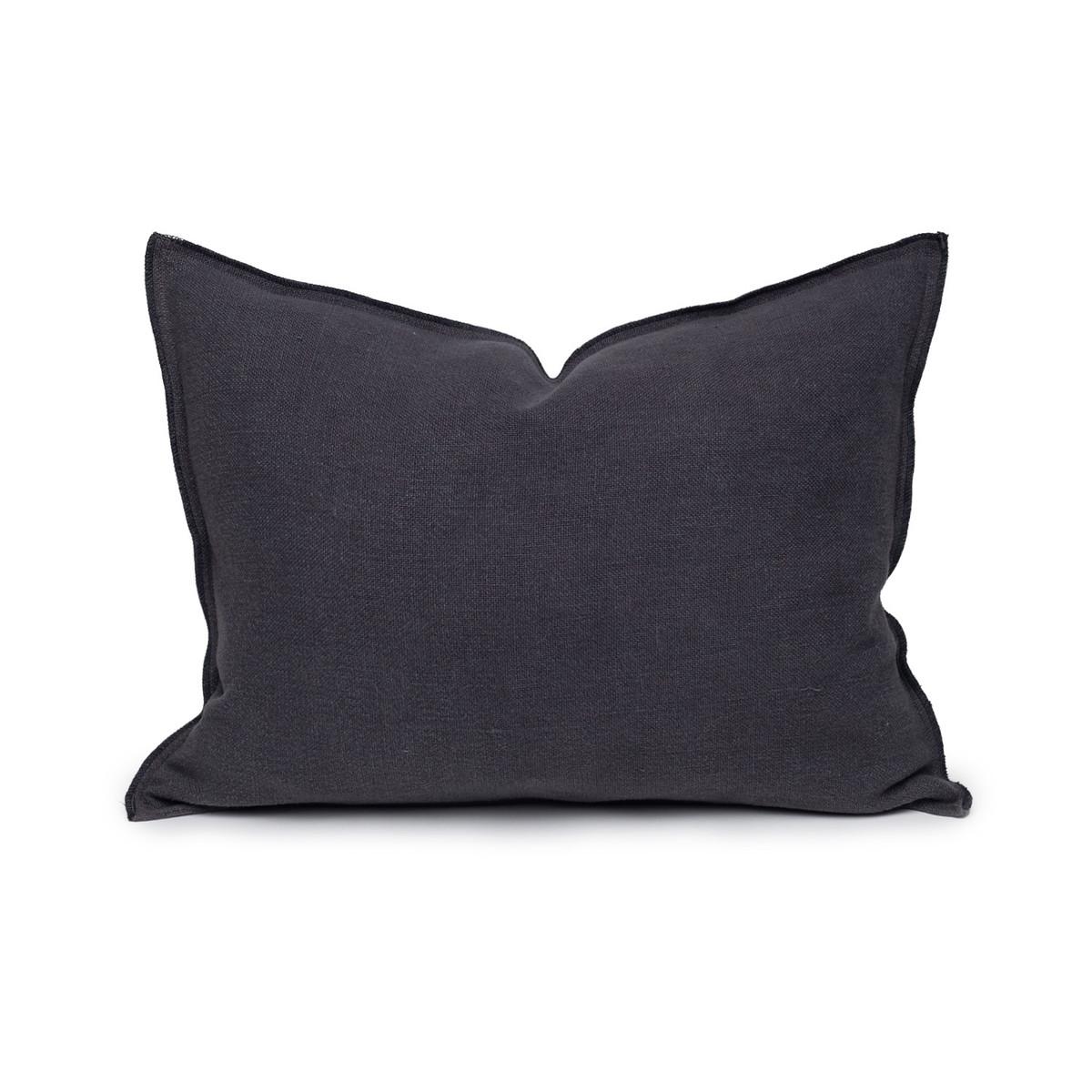 Santal Linen Pillow 1420 - Carbon - Front View