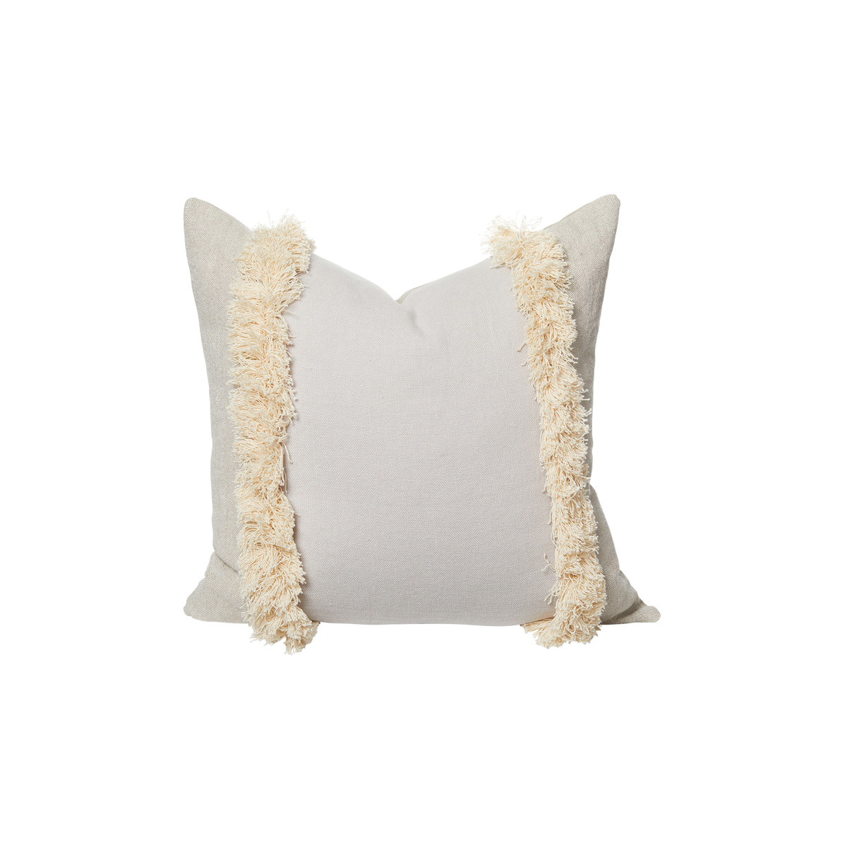 Muse Linen Pillow Mist Gray - Front