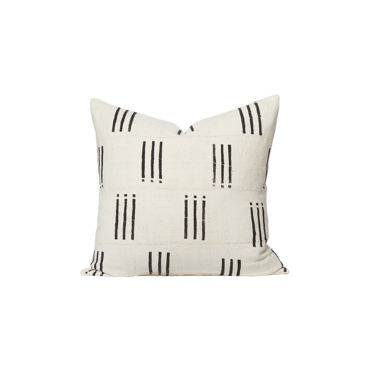 Axel White and Black Mud Cloth Pillow - Front
