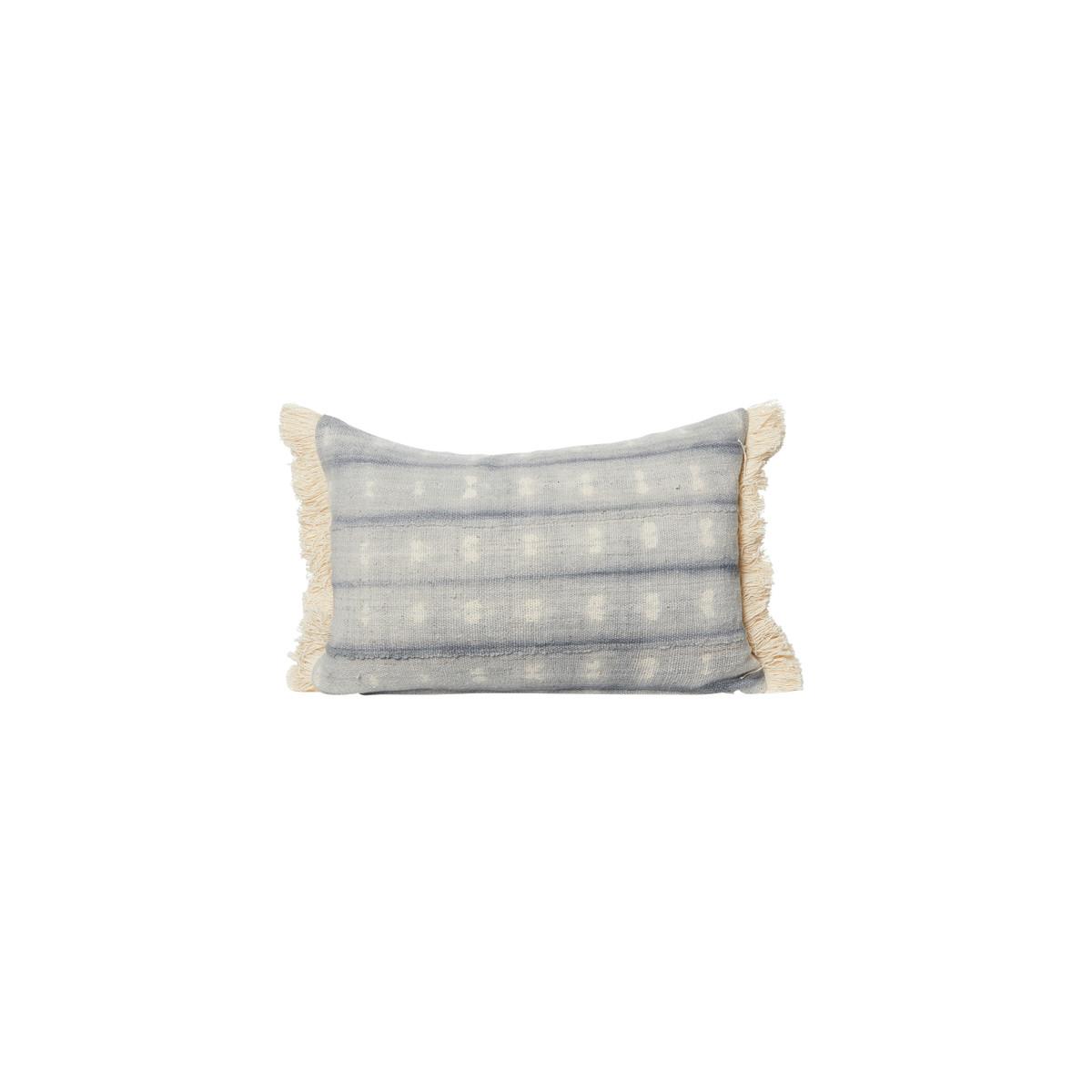 Drew Gray Tie Dye Mud Cloth Pillow - Front