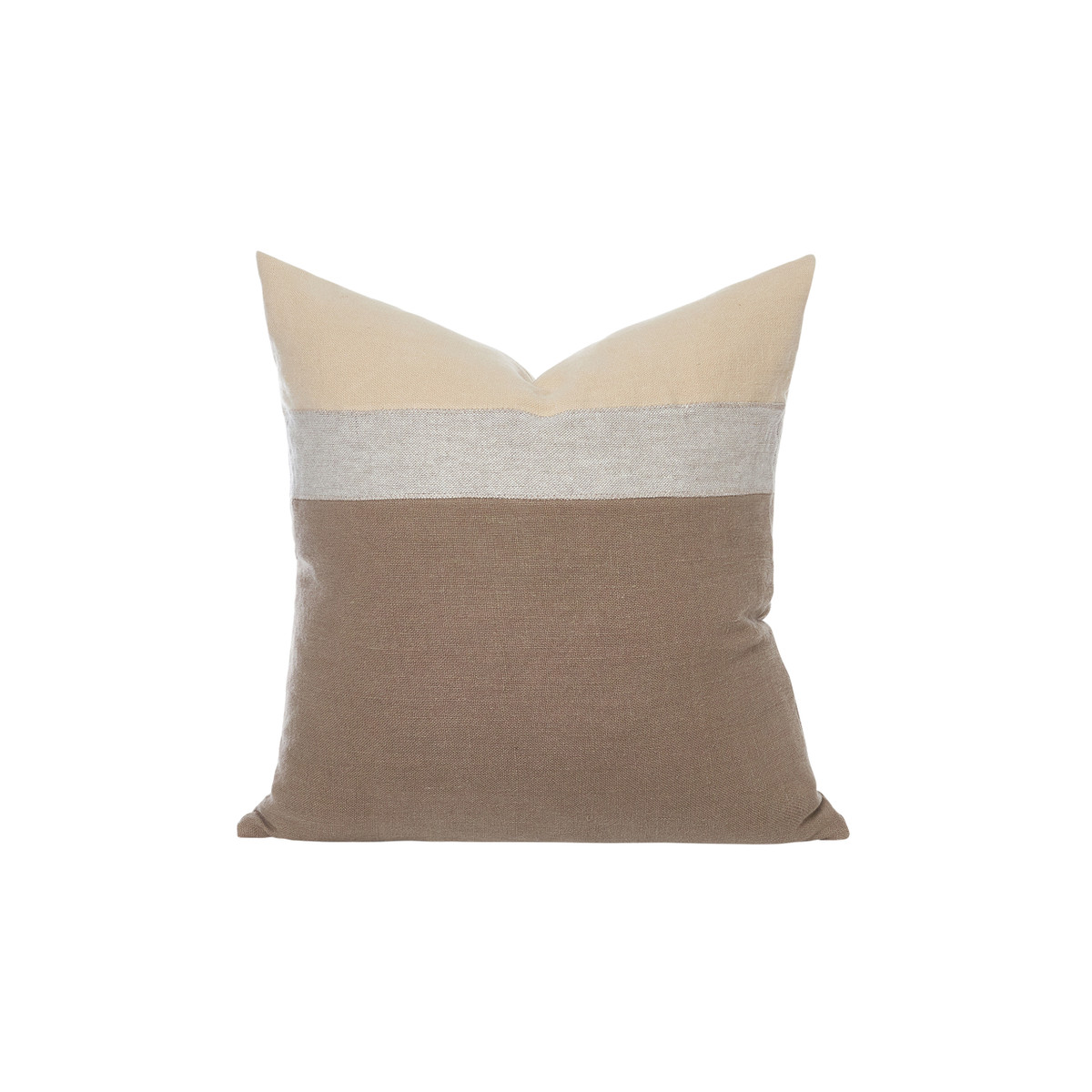 Cooper Pillow 22 Eco Linen - Straw - Front