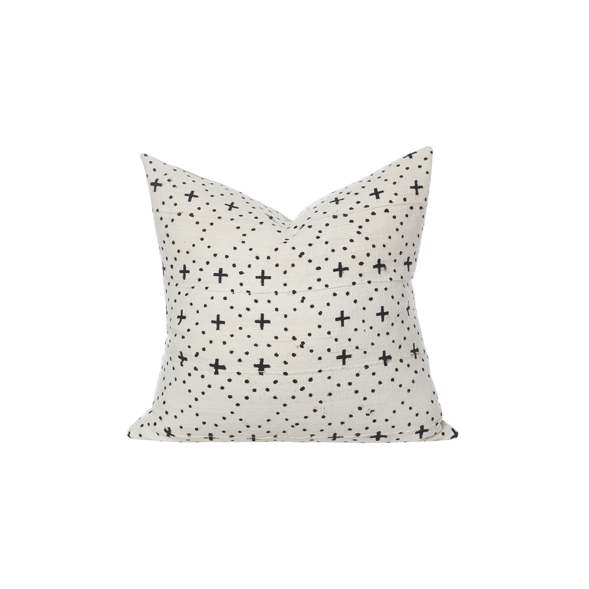 Cosmic White and Black Mud cloth pillow - Front