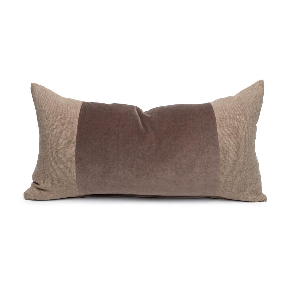 Chante Smokey Topaz Velvet Lumbar Pillow - Front