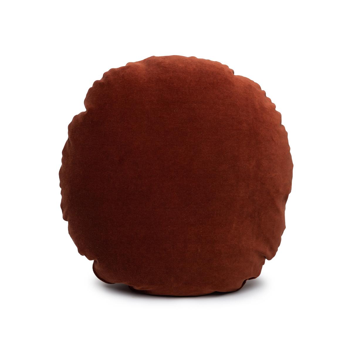 Ronde Jasper Velvet Round Pillow - Front