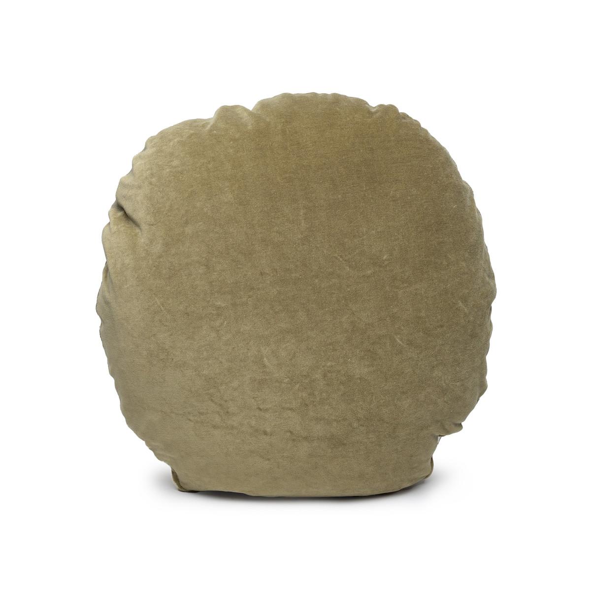 Ronde Jade Velvet Round Pillow - Front