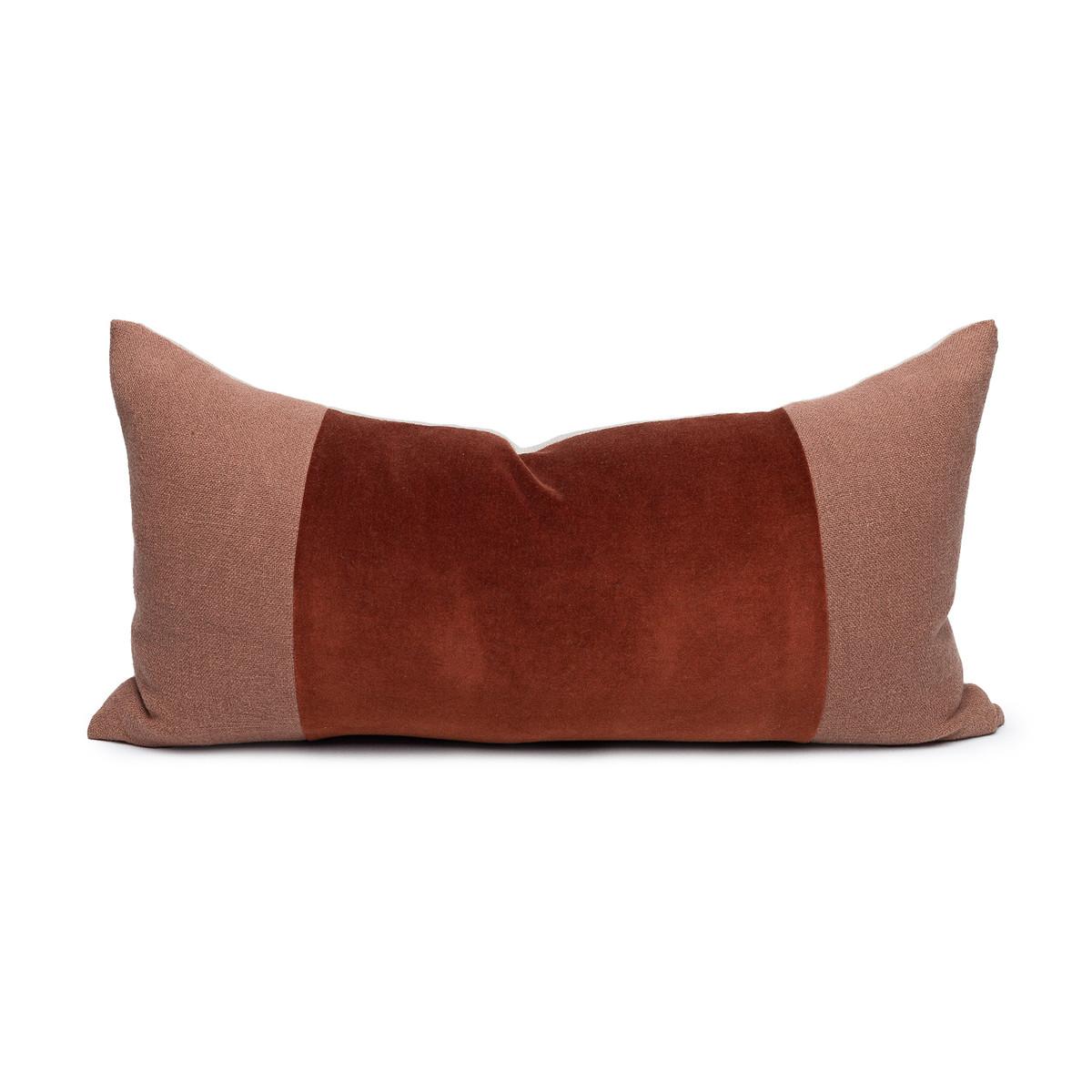 Chante Jasper Velvet Lumbar Pillow - Front