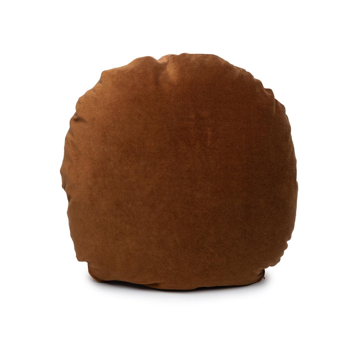 Ronde Golden Topaz Velvet Round Pillow - Front