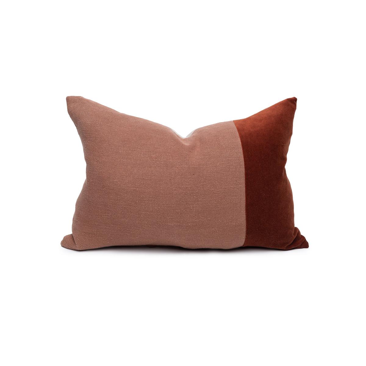 Doux Jasper Velvet Lumbar Pillow - Front