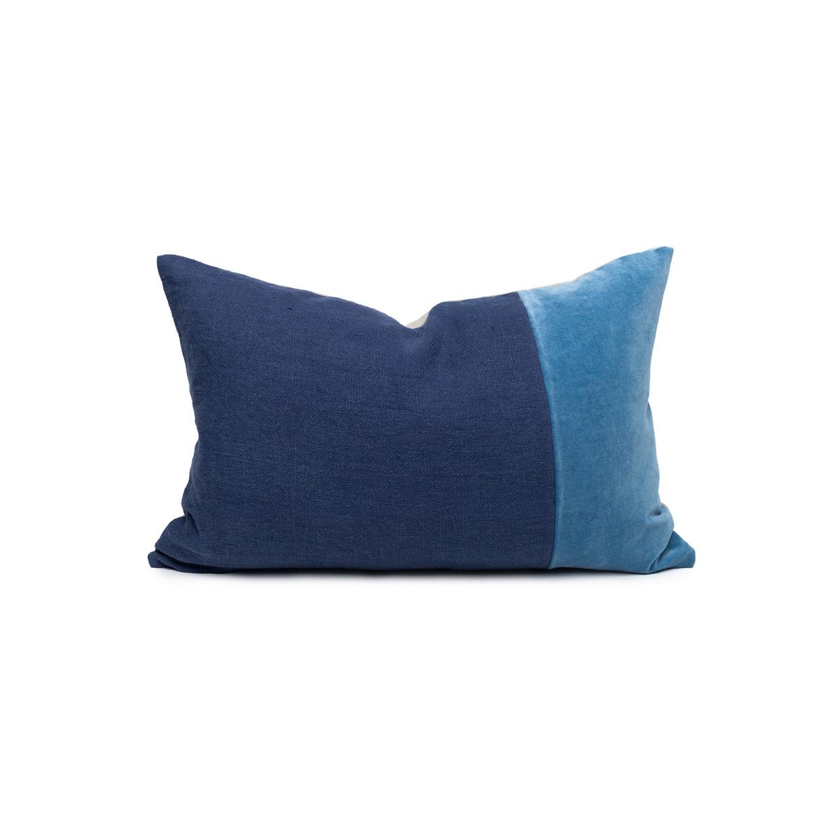 Doux Kyanite Velvet Lumbar Pillow - Front
