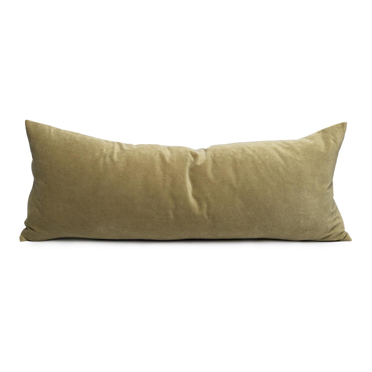 Palais Jade Velvet Lumbar Pillow - Front