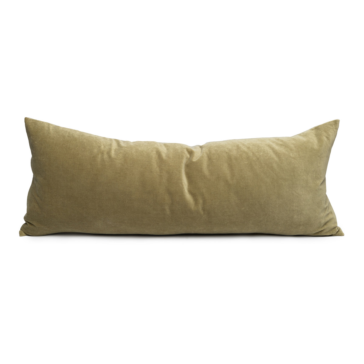 Jade Olive Green Velvet And Linen Palais Lumbar Pillow Decorative Pillows Shop House Of Cindy