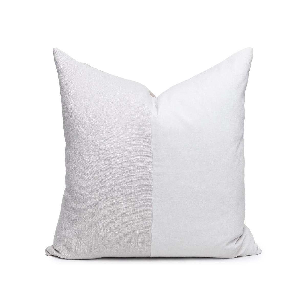 Carre Pearl Gray Velvet Pillow - Front