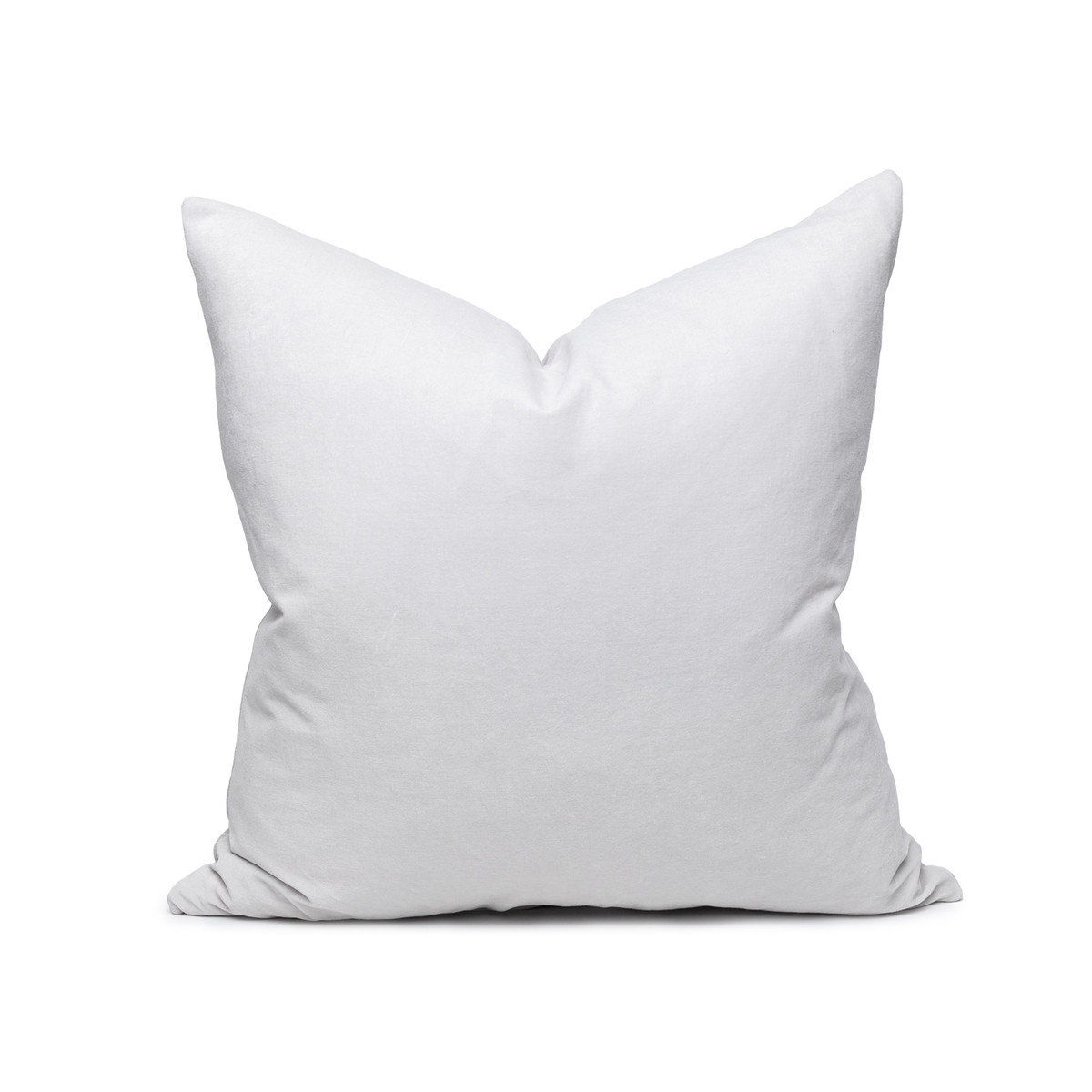 Sophie Pearl Gray velvet decorative pillow - front