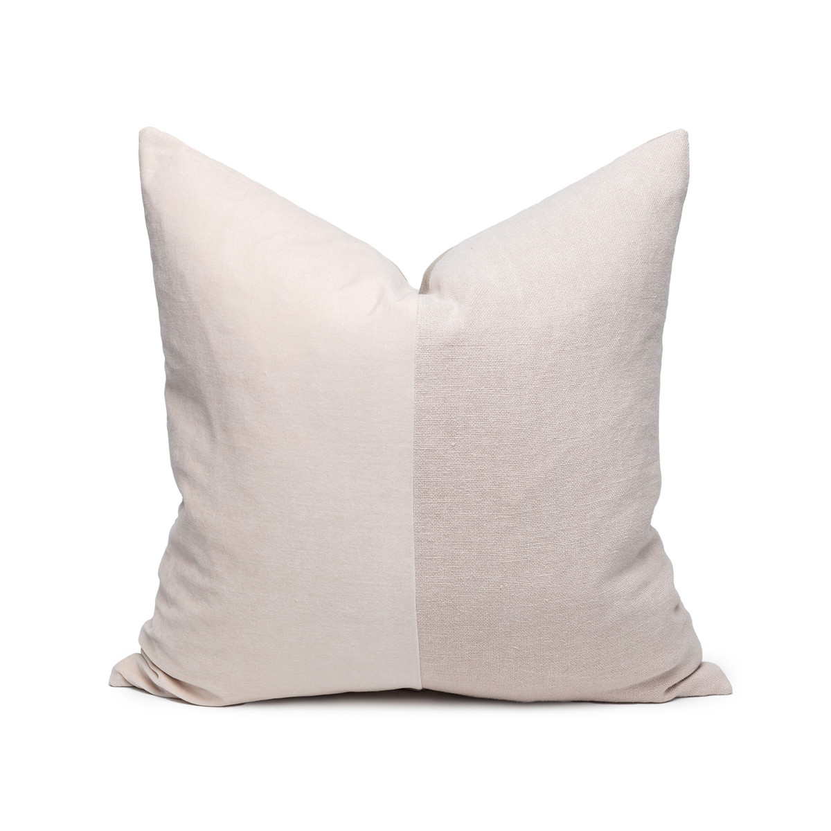 Carre Blush Velvet Pillow - Front