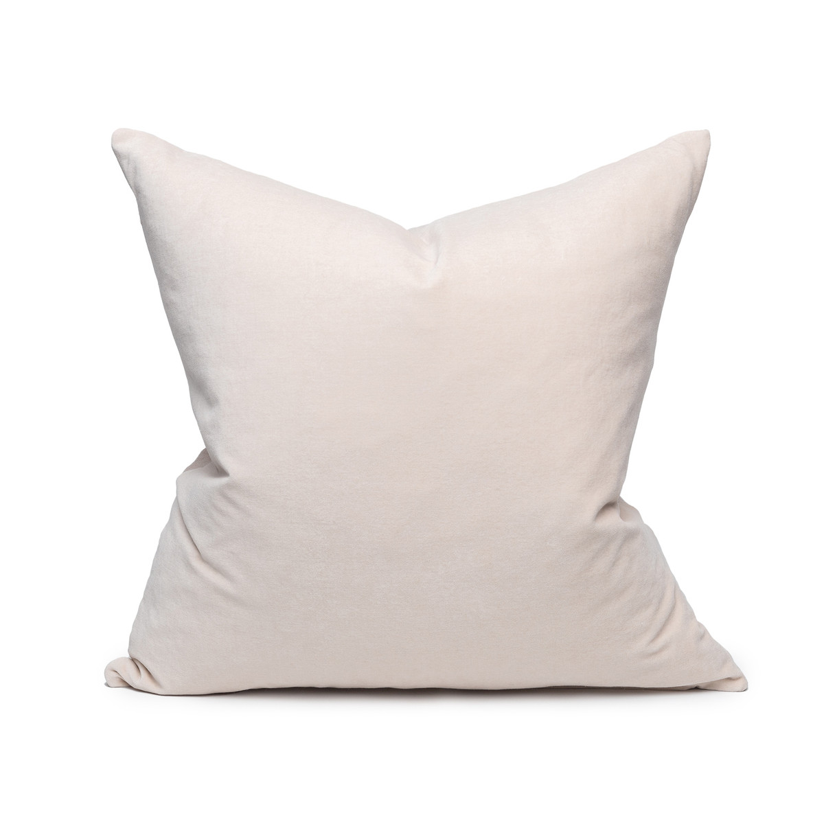 Sophie Blush Velvet decorative pillow - front