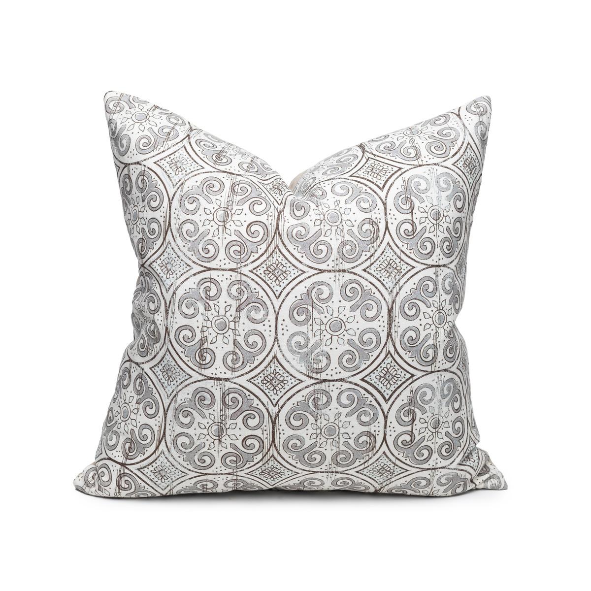 Jaipur Dreams Pewter Pillow - 22 - Front