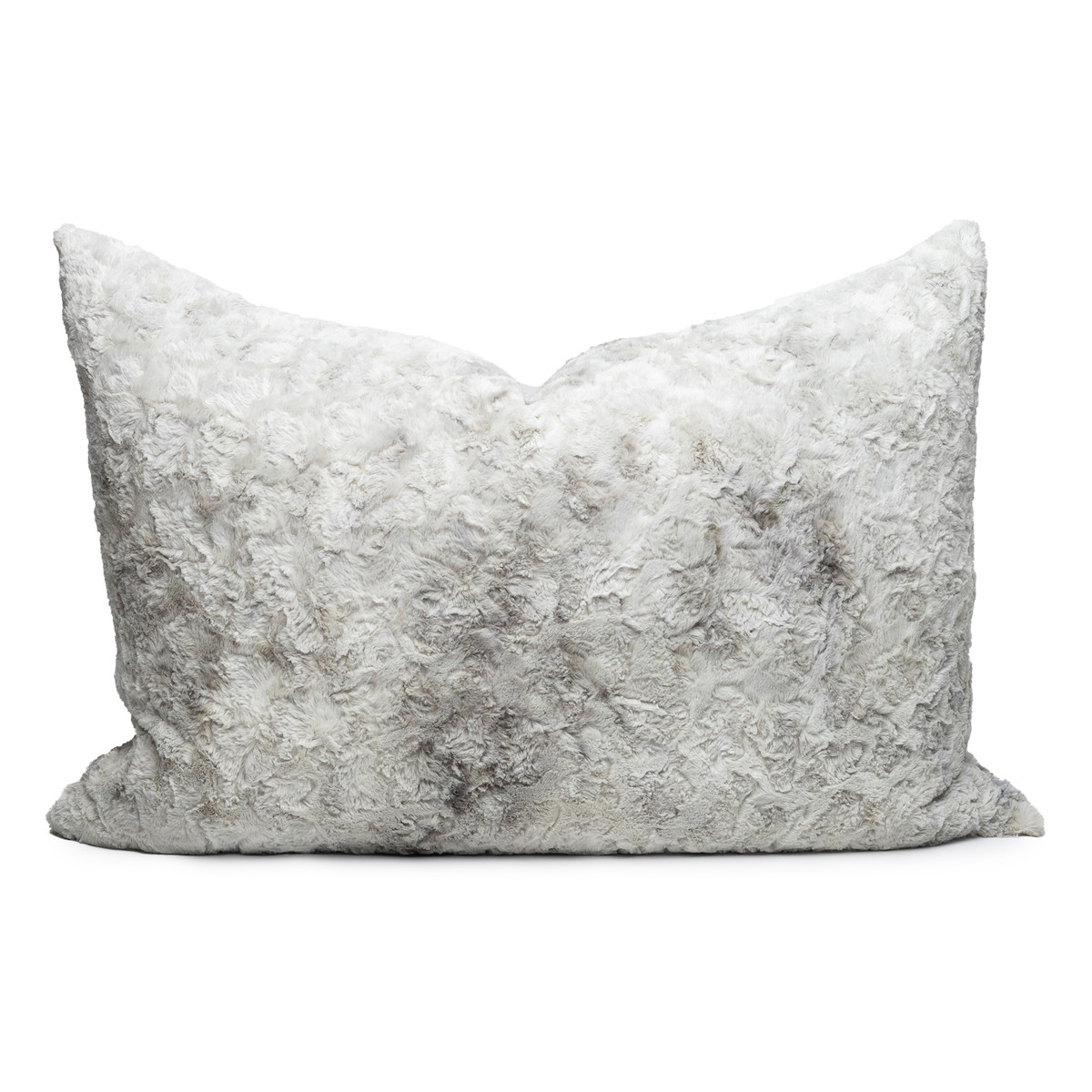 Charlotte Gray Vegan Faux Fur Pillow Cozy Granite - Front