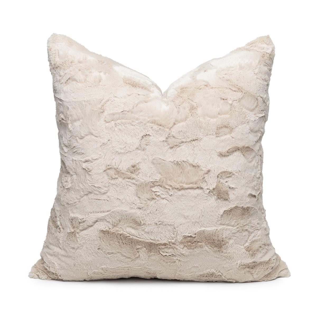 Minky Vegan Faux Fur Washable Pillow - Front