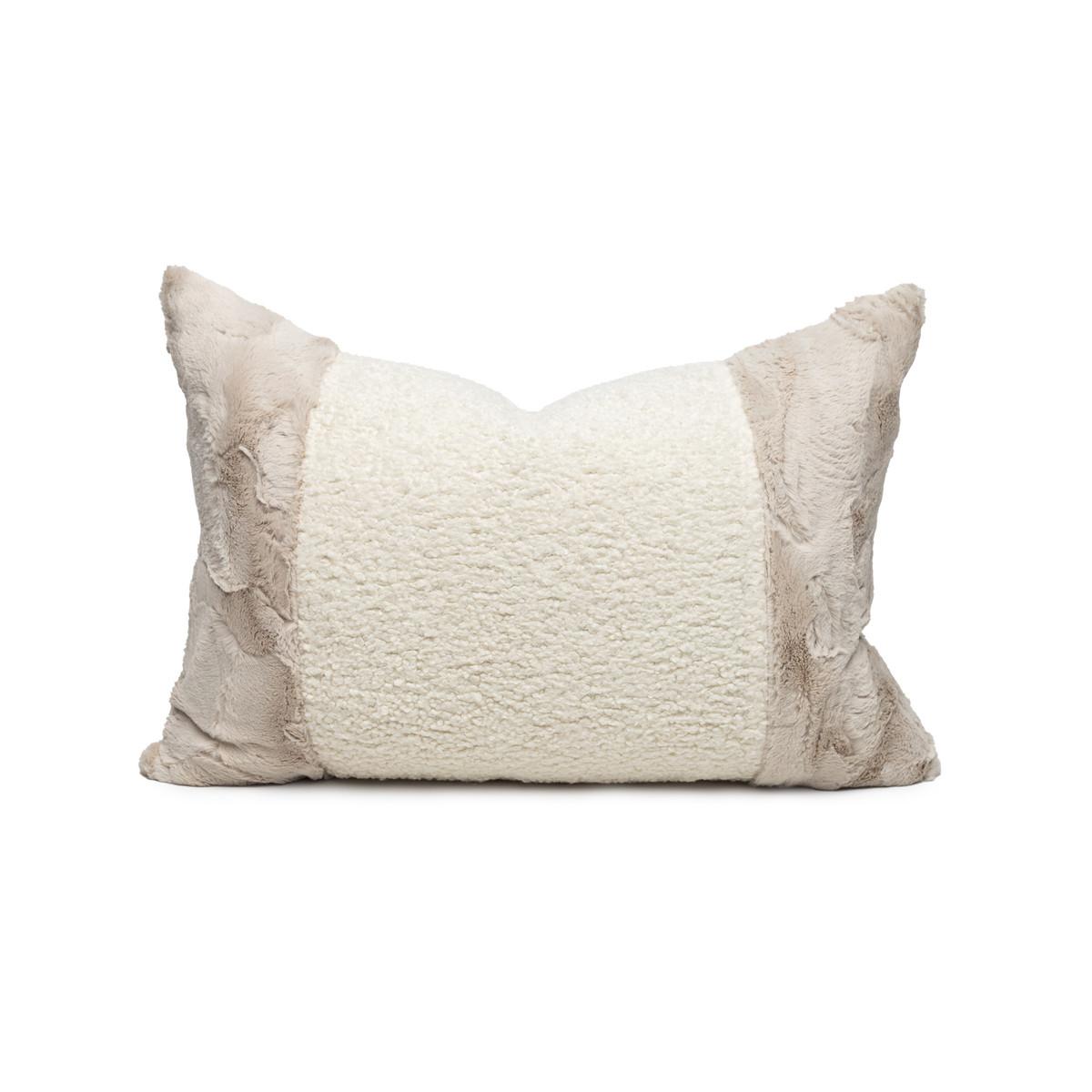 Sacha Vegan Faux Sherpa Fur Washable Pillow - Front