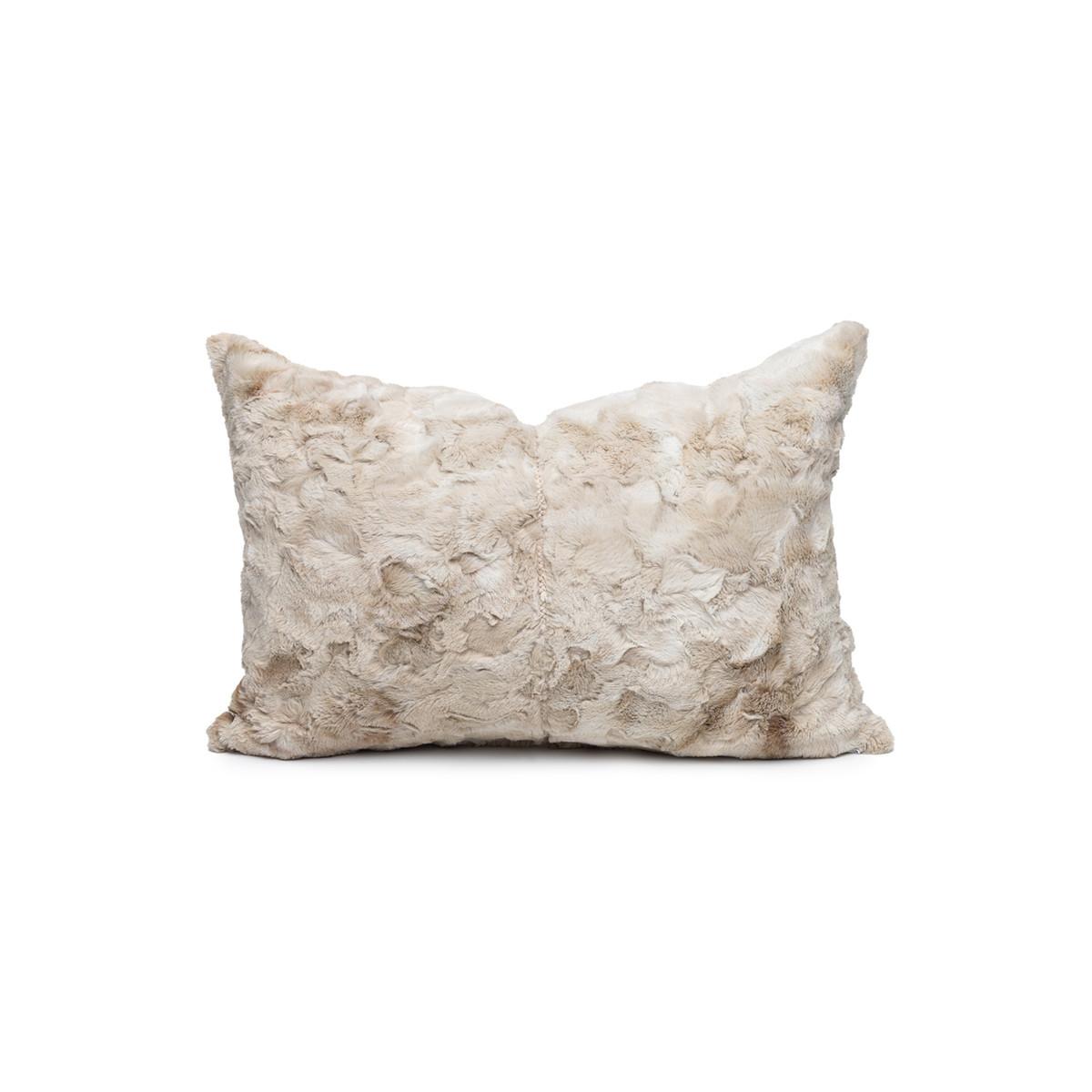 Sugar Vegan Tan Faux Fur Washable Pillow - Front
