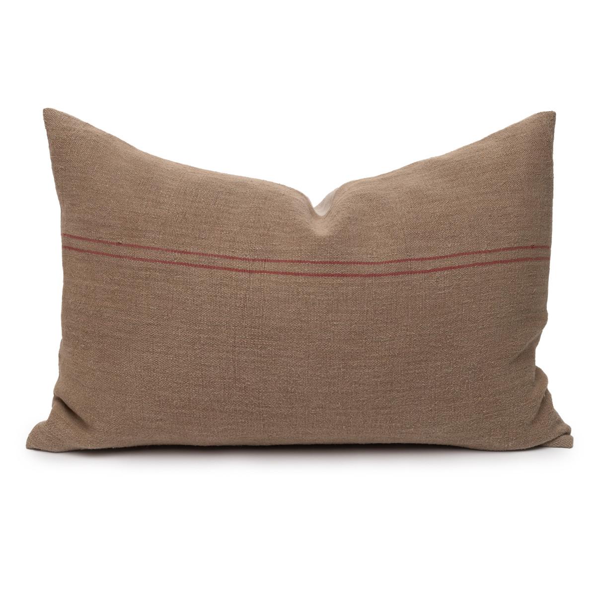 Hemp Stone Lumbar Pillow - 17 x 26 - Front