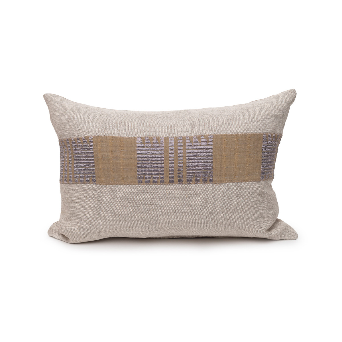 Anza Aso Oke Linen Pillow - 1420 - Front View