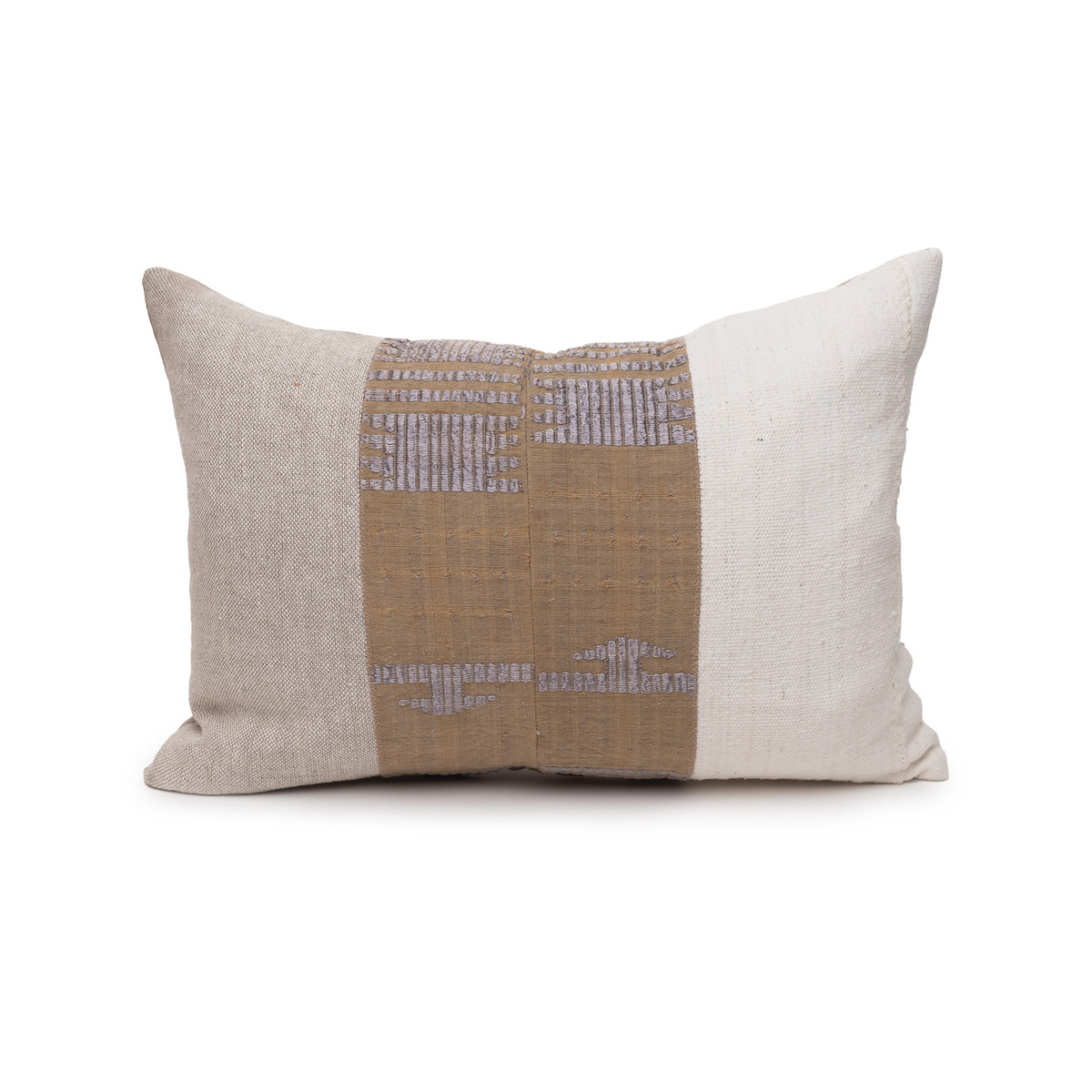 Graystone Aso Oke Vintage Textile Lumbar Pillow - 1420 - Front