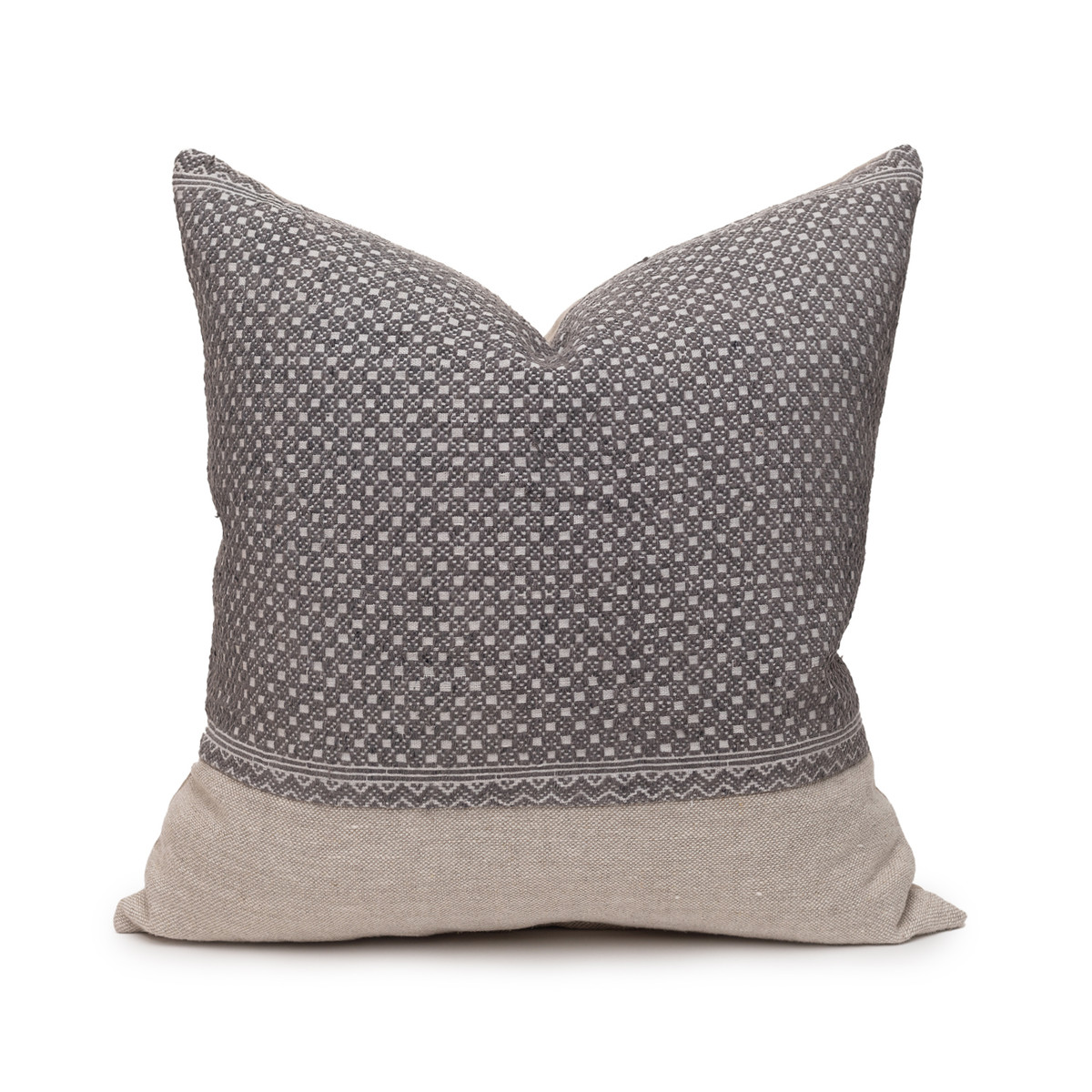 Evan Gray Luxe Vintage Pillow - 20 - Front