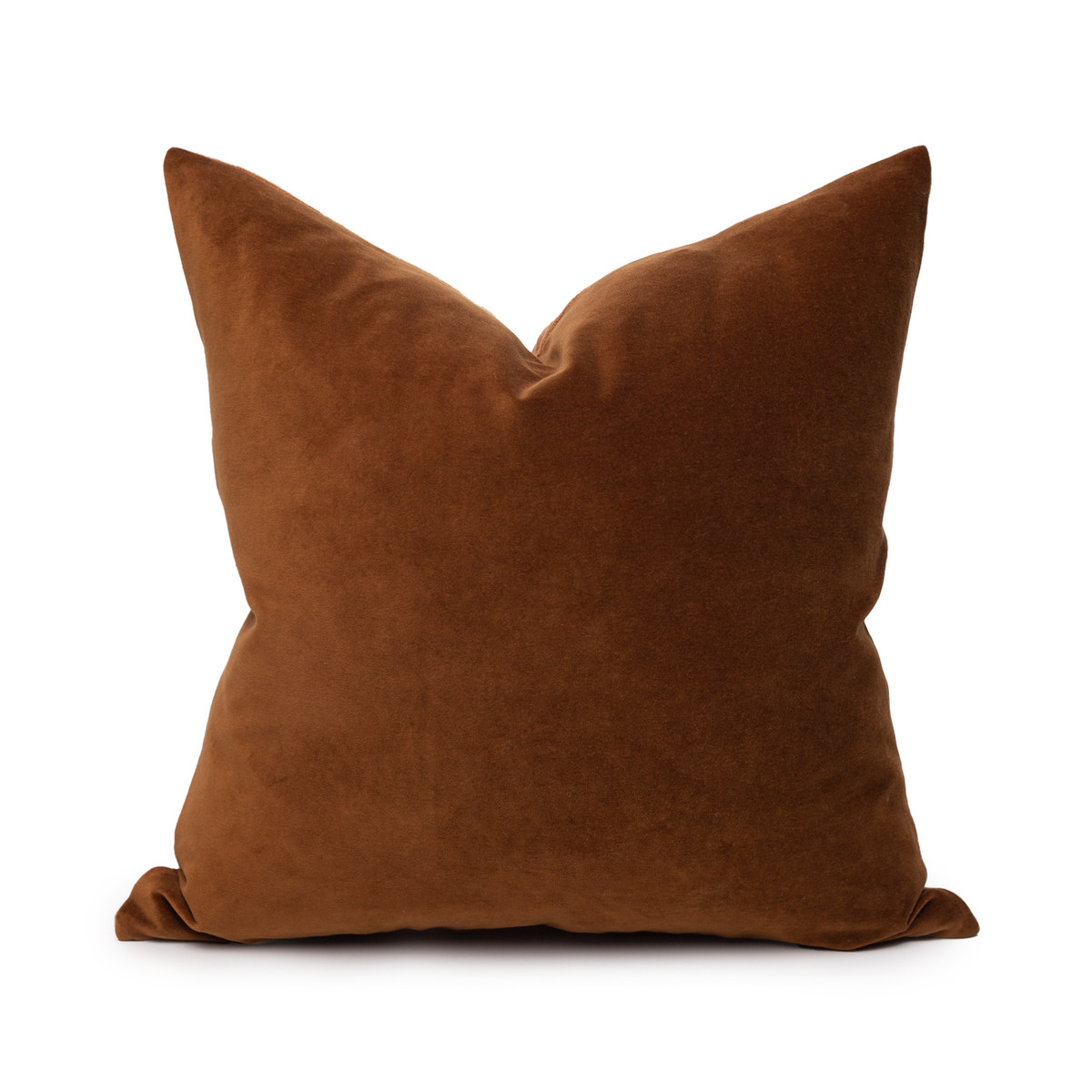 Sophie Golden Topaz Cotton Velvet Decorative Pillow - Front