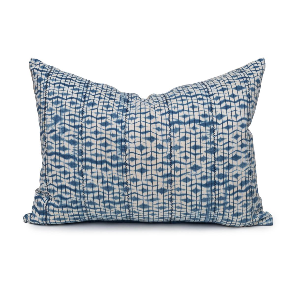 Indigo Sea Lumbar Pillow- 1622- Front View