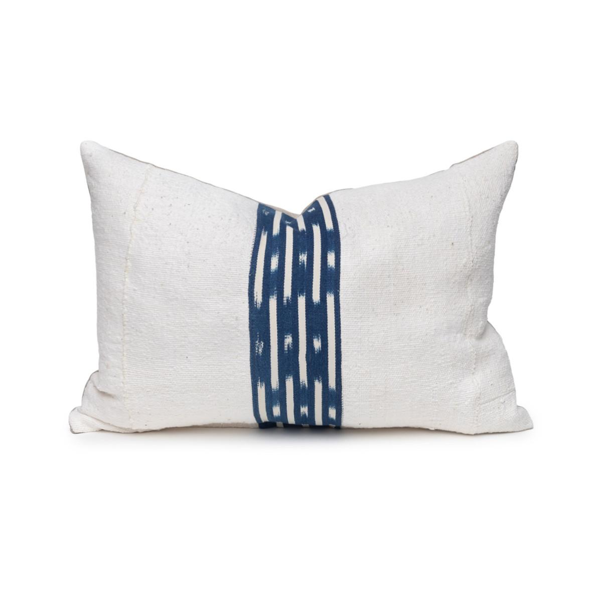 Peak Indigo Lumbar Pillow- 1420- Front View