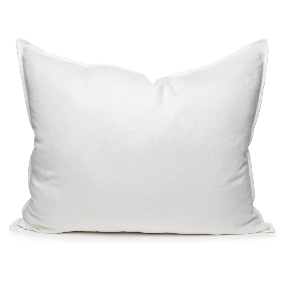 Simone PURE LINEN pillow- Blanc - 2636 - front view