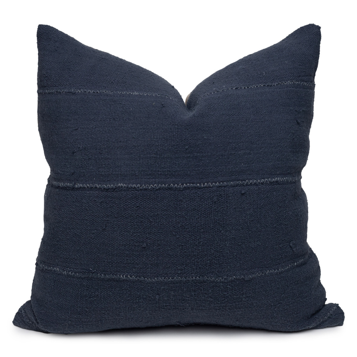 Joe Mud Cloth Pillow in Navy-22-Front