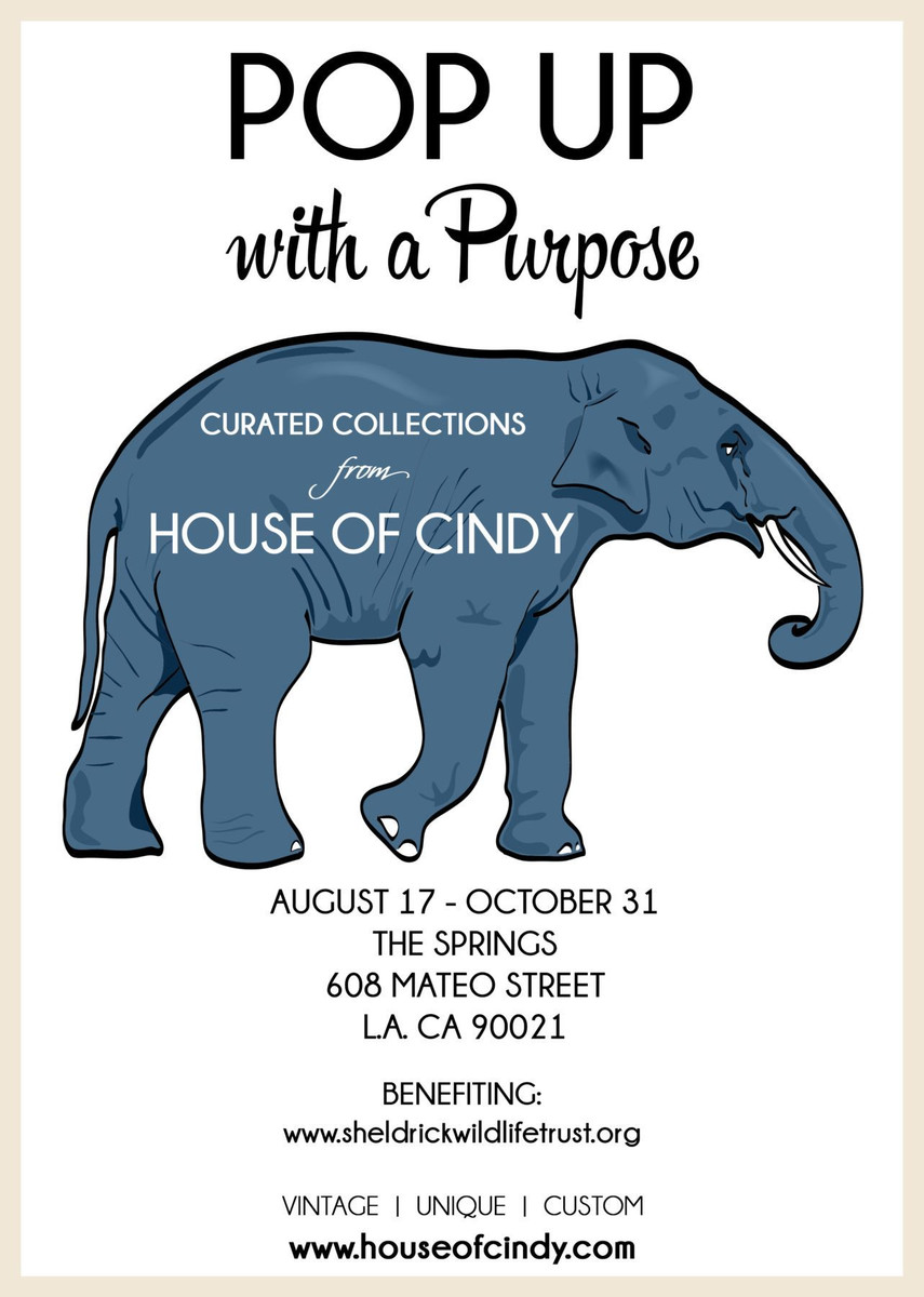 "Elephant Rescue, Poufs, Pillows and ""Pop Up with a Purpose"""