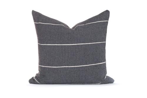 Charcoal Gray Stripe Pillow