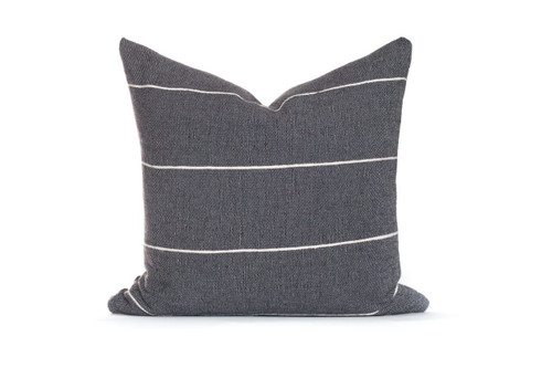 Charcoal Gray Stripe Pillow