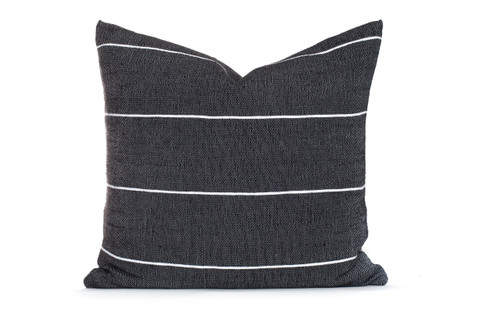 Black and White Stripe Moroccan Pillow