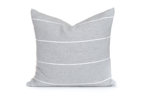 Beach House Pillow  Gray White