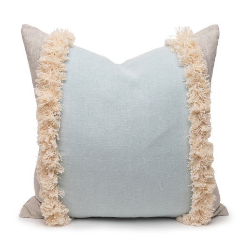 Muse 22 PURE LINEN Pillow Aquamarine - Front
