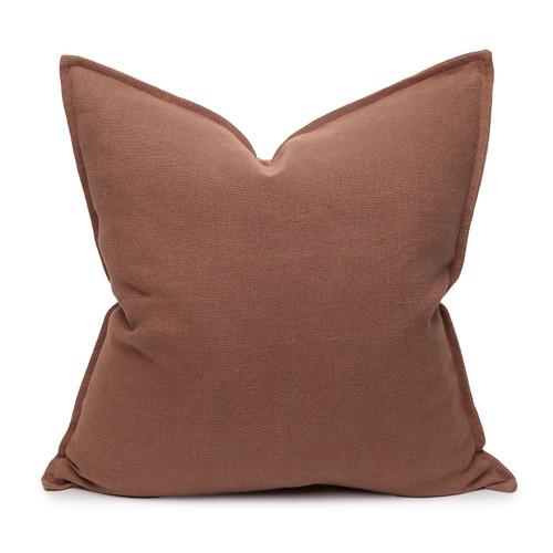 Simone PURE LINEN Pillow Bark - Front