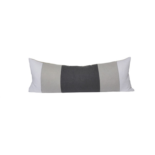 Zoe Lumbar Pillow - Gray