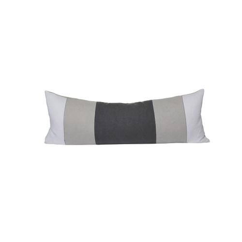 Zoe Lumbar Pillow - Gray