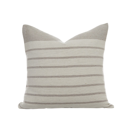 Sailor Pillow Ivory/Lt Taupe Stripe