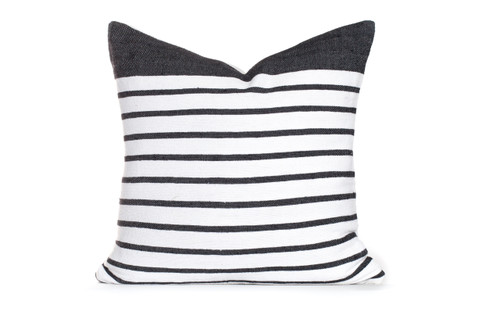 Sailor Pillow White/Black Stripe