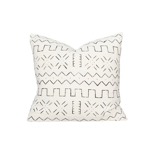 Cross Mudcloth Pillow - Front