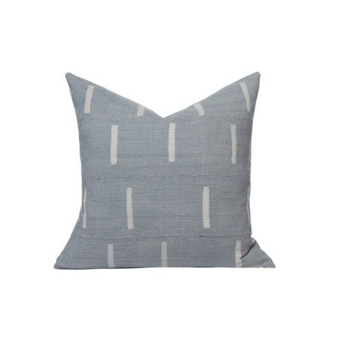 Gray Line Mud Cloth Pillow - Front